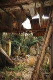 Construction abandonnée de ferme Image libre de droits