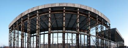 Construction abandonnée panoramique Photo libre de droits