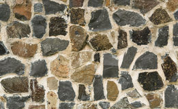 Construction Abstract stone wall close-up Royalty Free Stock Images