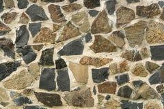 Construction Abstract stone wall close-up Stock Photo
