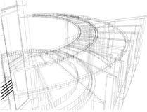 Construction abstraite de la ligne vecteur 26 Image libre de droits