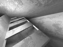 Construction abstraite de mur en béton Fond d'architecture Photos libres de droits