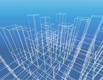 Construction abstraite de vecteur de ville illustration de vecteur