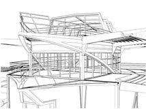 Construction abstraite du vecteur de construction de bateau Photos libres de droits