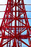 Construction abstraite rouge en métal Photographie stock libre de droits