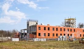 Construction of Academic Building Fire Institute Stock Image