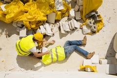 Construction accident Stock Photography