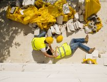 Construction accident Stock Image