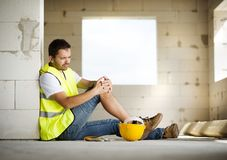 Construction accident Stock Images