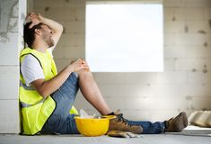 Construction accident Royalty Free Stock Image