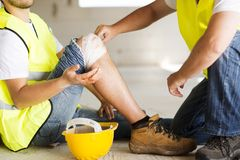 Construction accident Stock Photos