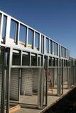 Construction, acier, construisant Photo libre de droits