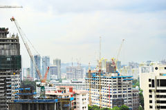 Construction activity, Singapore Stock Image