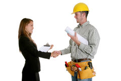 Construction Agreement Stock Image
