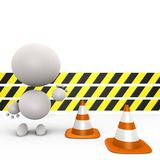 Construction ahead, do not proceed - 3d image Royalty Free Stock Photos