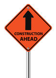 Construction Ahead traffic sign Royalty Free Stock Photos