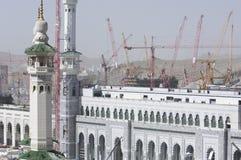 Construction of Al-Masjid Al-Haram Around Al Kaaba. In Mecca, Saudi Arabia royalty free stock photography