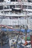 Construction of Al-Masjid Al-Haram Around Al Kaaba. In Mecca, Saudi Arabia royalty free stock photos