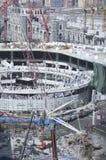 Construction of Al-Masjid Al-Haram Around Al Kaaba. In Mecca, Saudi Arabia royalty free stock images