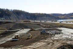 Construction in Alberta, Canada Stock Photo
