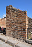 Construction of the ancient walls of the house Stock Photo