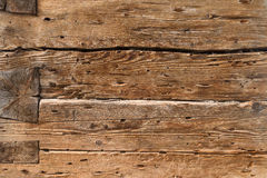Construction of ancient wooden beams Royalty Free Stock Image