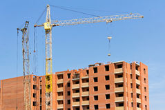 Construction of an apartment building Stock Image