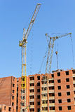 Construction of an apartment building Royalty Free Stock Images
