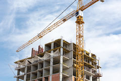 Construction of apartment building Royalty Free Stock Photo