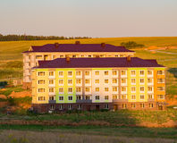 Construction of apartment buildings in the country Stock Photography