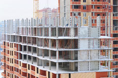 Construction of apartment buildings Royalty Free Stock Photo