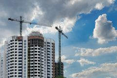 Construction of an apartment house Royalty Free Stock Image