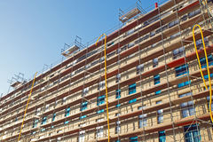 Construction of an apartment house Royalty Free Stock Photo
