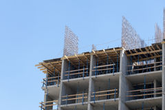 Construction of an apartment house Stock Image