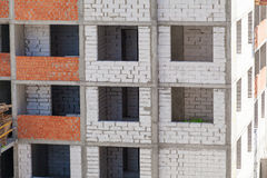 Construction of an apartment house Royalty Free Stock Images