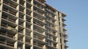 Construction of an apartment house. Construction of a residential house close-up stock video footage