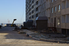 Construction of apartment houses Stock Photo