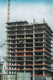 Construction of apartment houses in the Russian capital - Moscow. Stock Photo