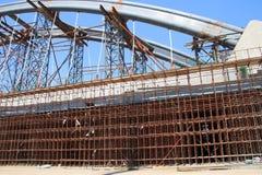 Construction of arch bridge. Close up construction of arch bridge Stock Image