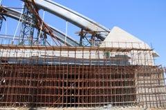 Construction of arch bridge. Close up construction of arch bridge Stock Photography