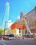 Construction in Arch Street in Philadelphia in PA. Philadelphia, USA - May 4, 2015: Construction in Arch Street in the City Center in Philadelphia, in Stock Image