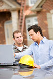 Construction: Architect Finds Issue with Plans Stock Image