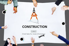 Construction Architecture Hardhat Helmet Site Concept Royalty Free Stock Photography
