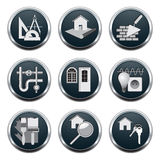 Construction & architecture icons Royalty Free Stock Image
