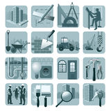 Construction & architecture icons Royalty Free Stock Photography