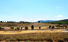 Construction Area. Of The Golf Course In Tuscany, Italy stock photo