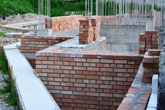 House building - construction area details Royalty Free Stock Images