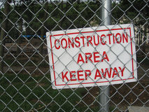 Construction area sign Royalty Free Stock Images