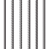 Construction armature. Rebars, Reinforcement Steel Isolated on White Background. Construction Metal Armature vector illustration