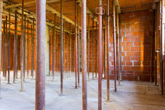 Construction of artifact in brick and cement. On site construction Royalty Free Stock Image
